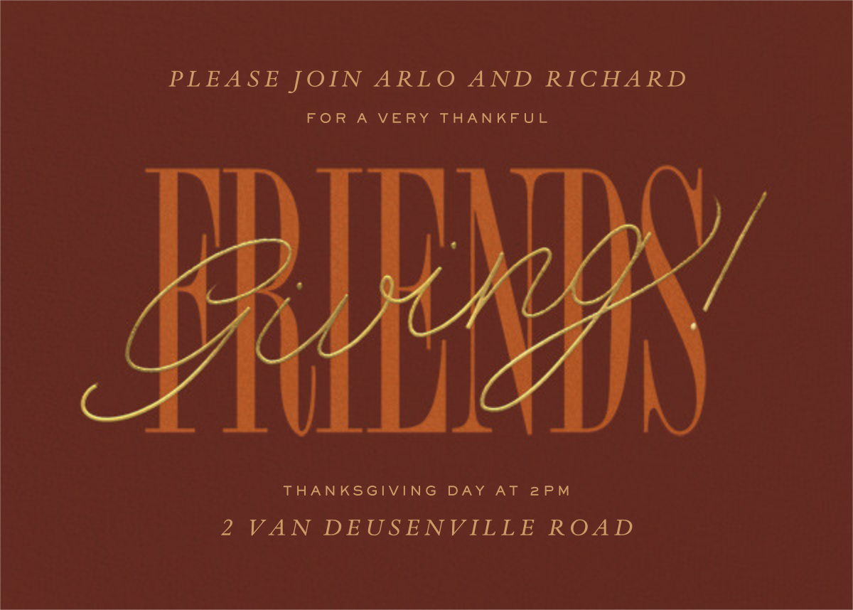 Thankful Friendsgiving - Paperless Post - Thanksgiving