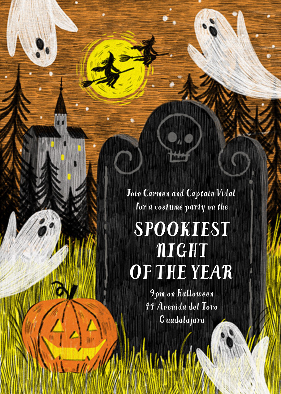 Spooky Sketch - Paperless Post - Halloween