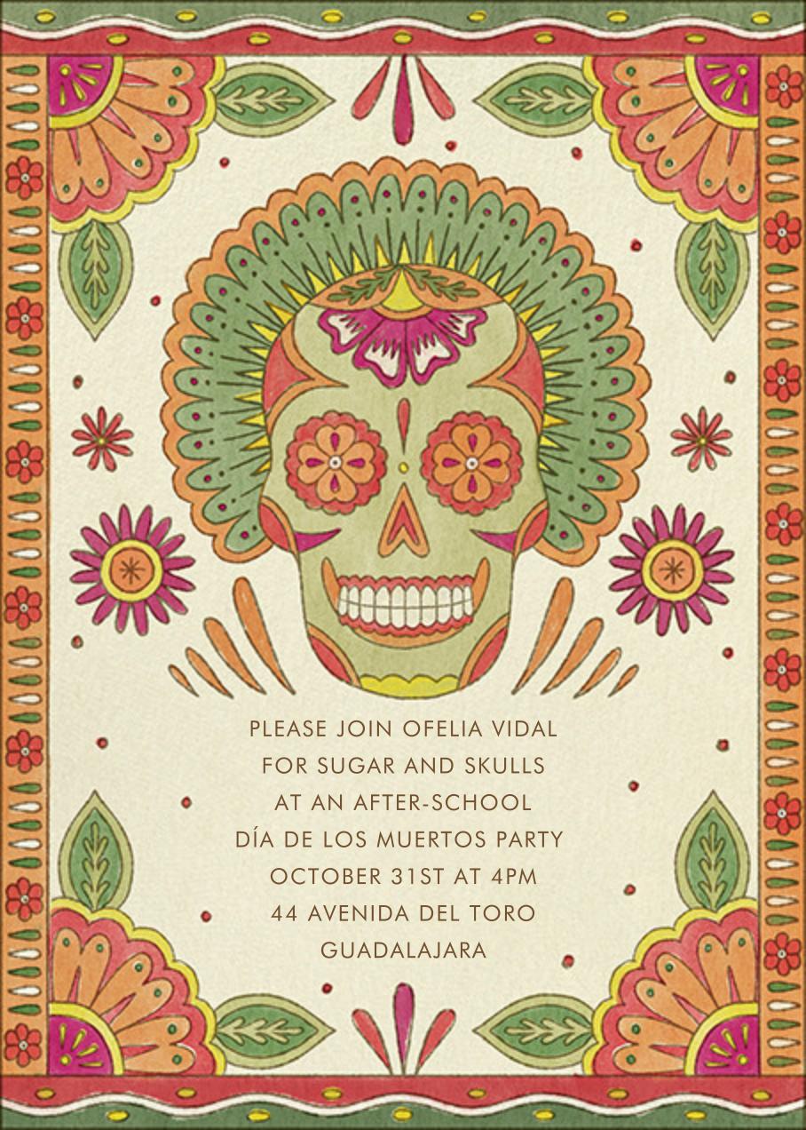 Painted Skull - Paperless Post - Halloween