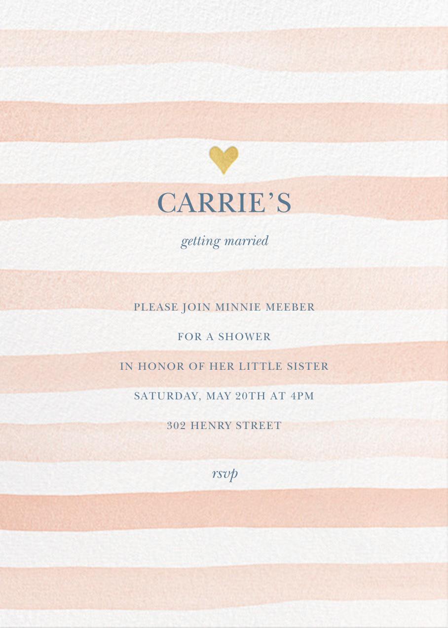 Light Stripes - Sherbet - Sugar Paper - Bridal shower