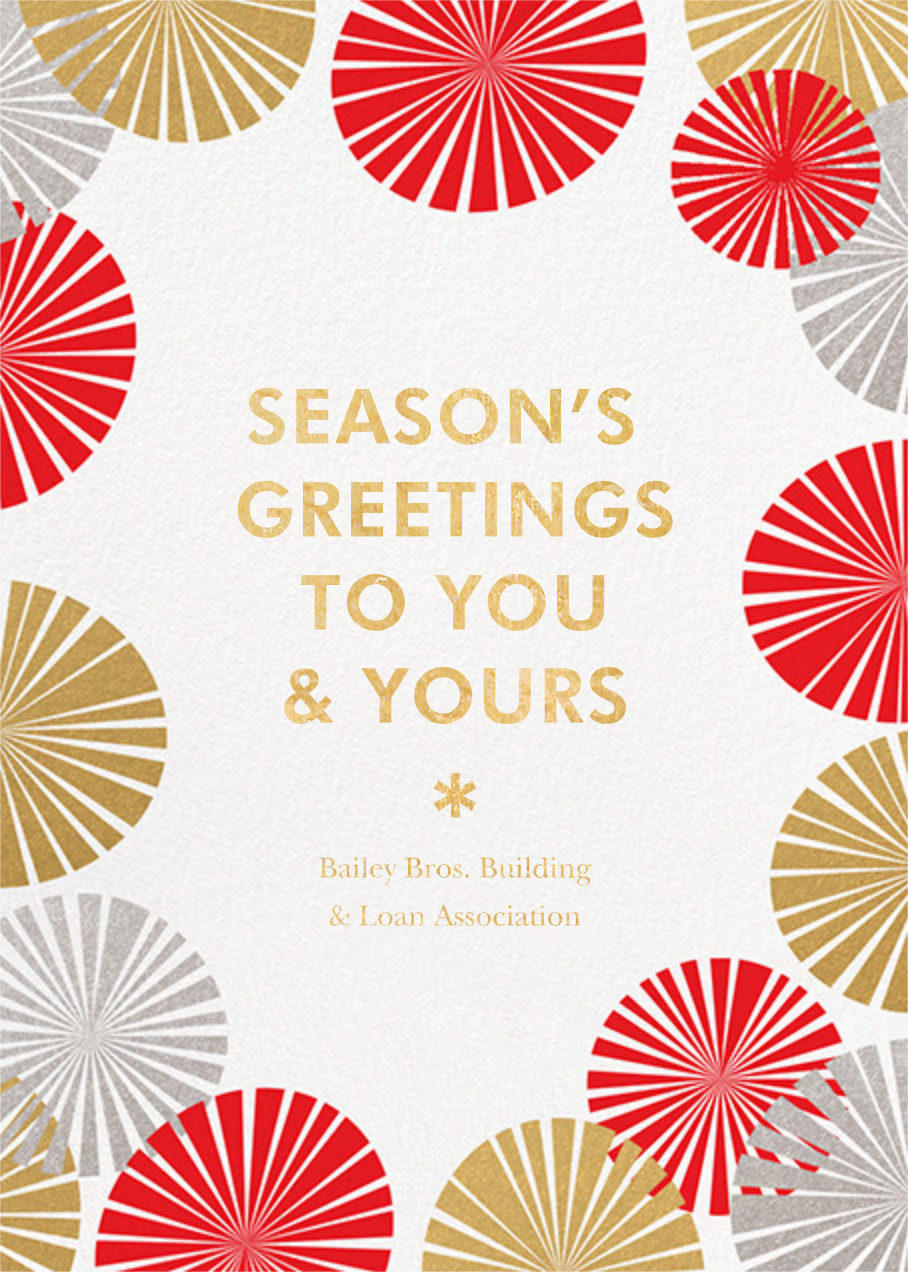 Party Fans - White - Paperless Post - Business holiday cards