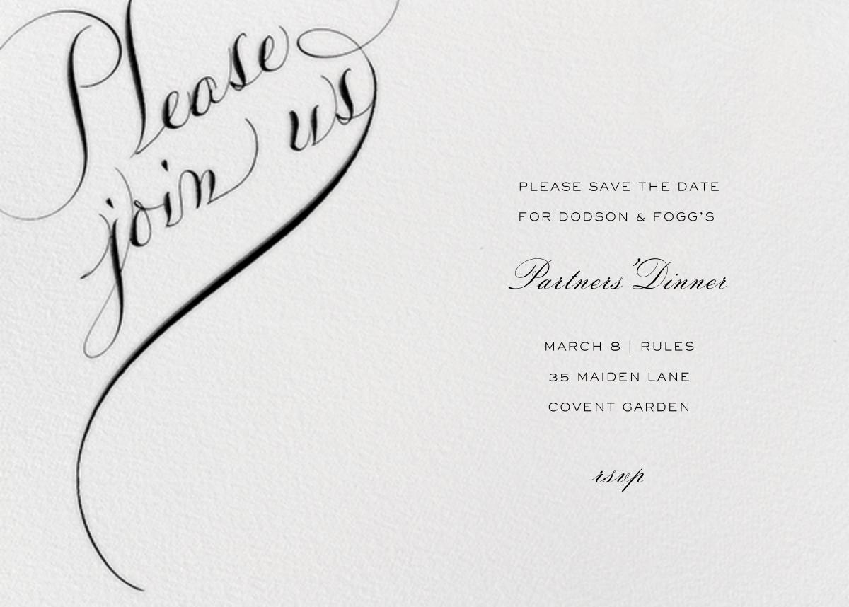 Please Join Us (Horizontal) - Black - Bernard Maisner - Eventbrite
