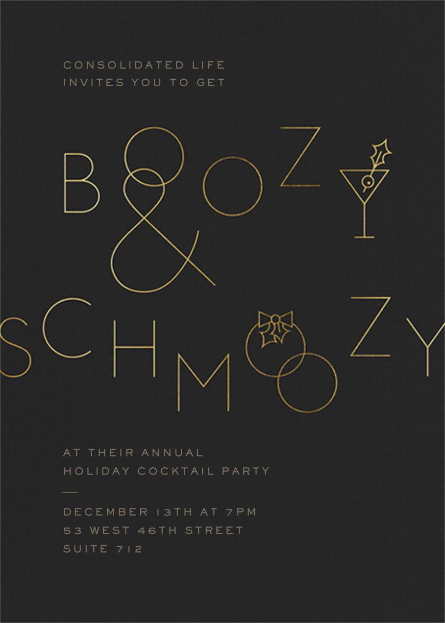 Boozy and Schmoozy - Caviar - Paperless Post - Corporate invitations