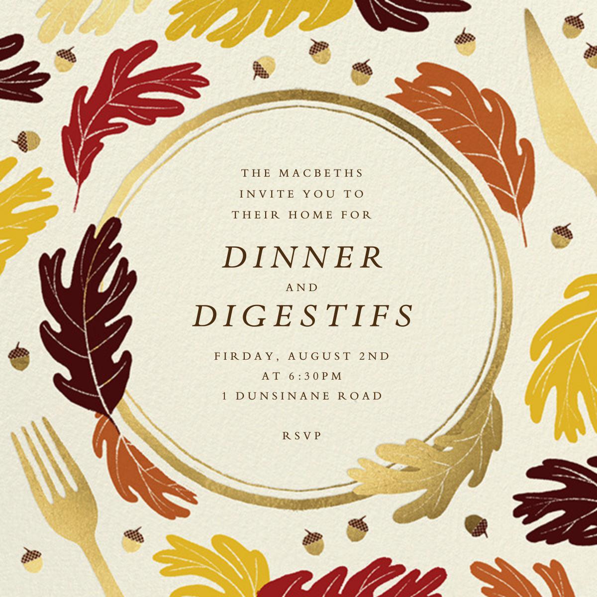 Oaky Doke - Paperless Post - Dinner party