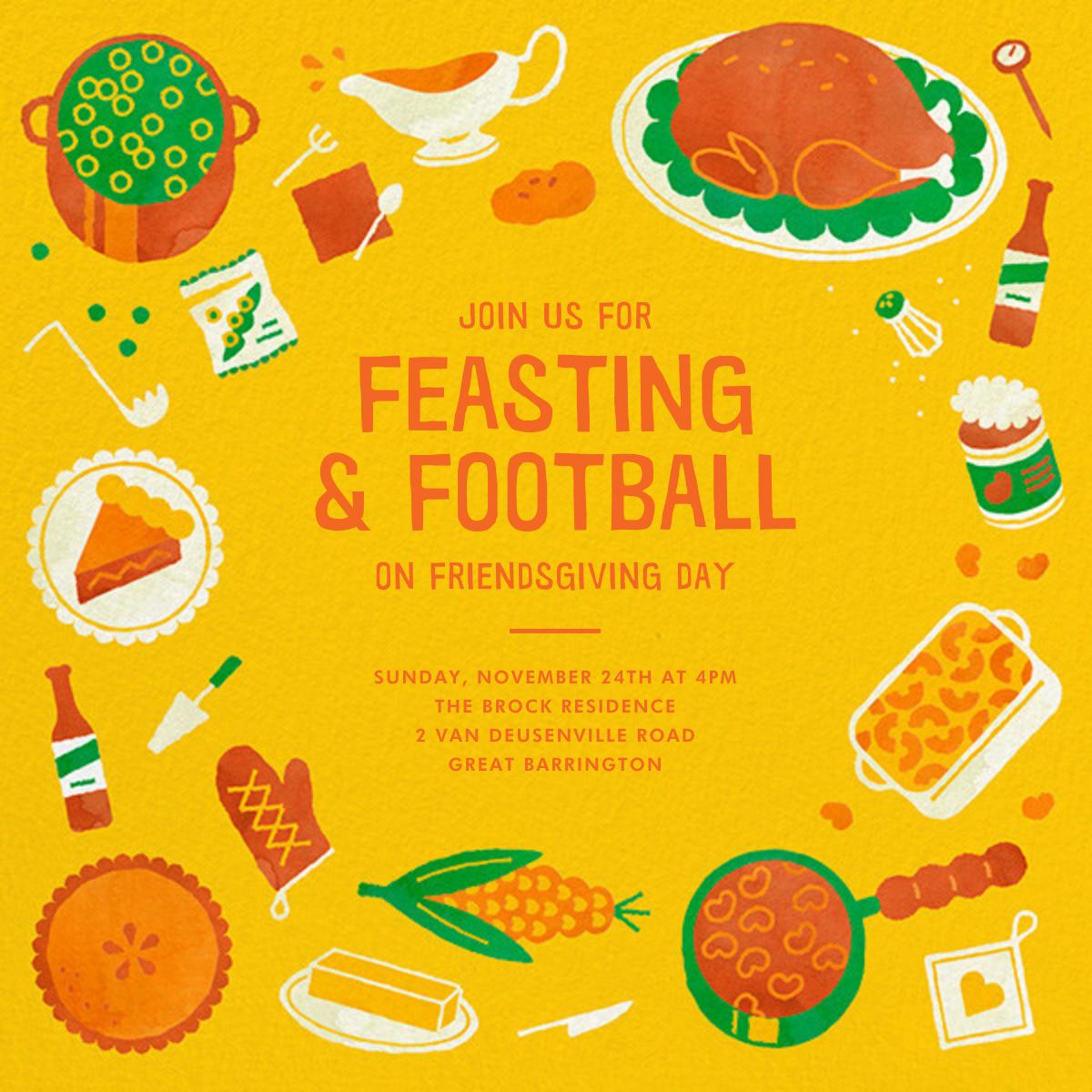 Football Friendsgiving - Paperless Post - Thanksgiving