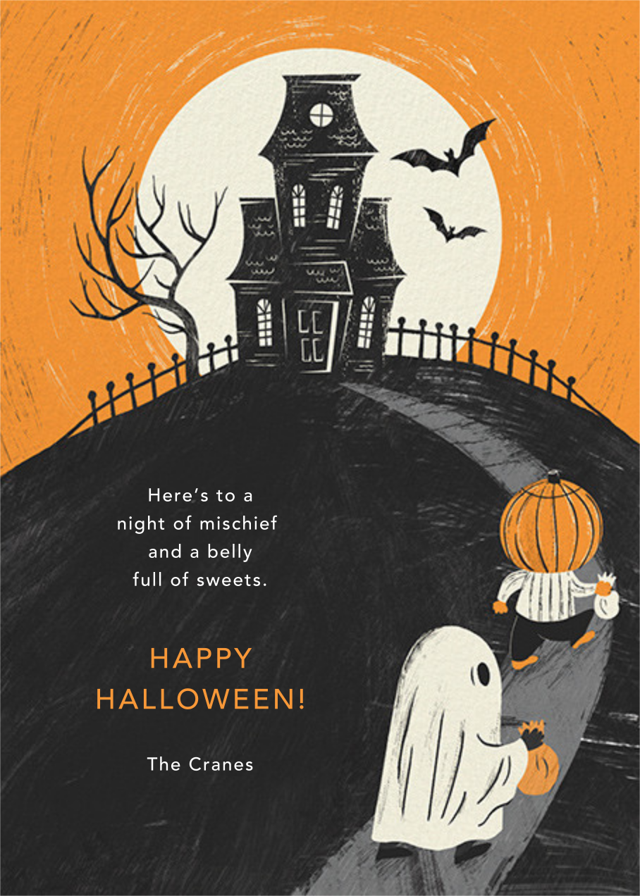 House on a Hill - Paperless Post - Halloween