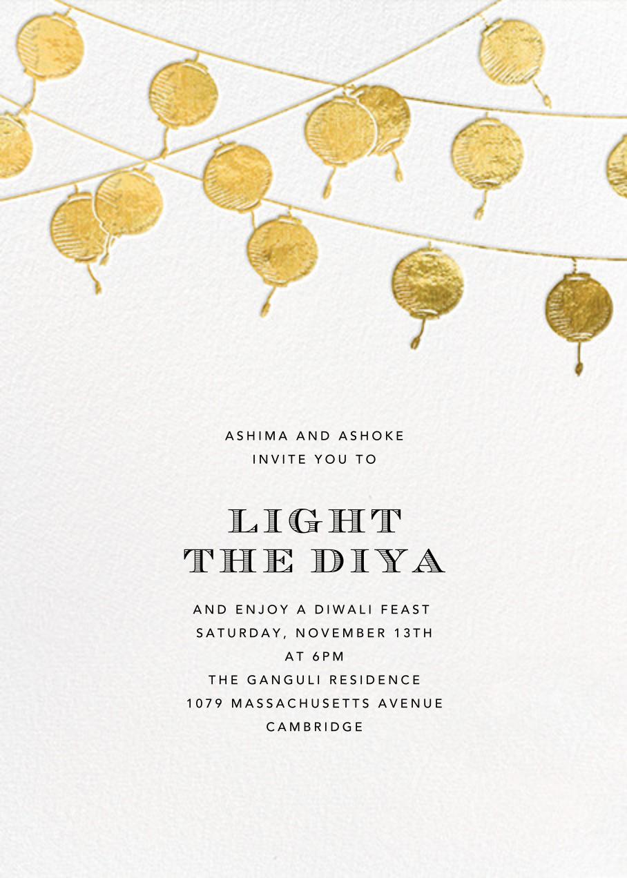 Lanterns - Gold - Paperless Post