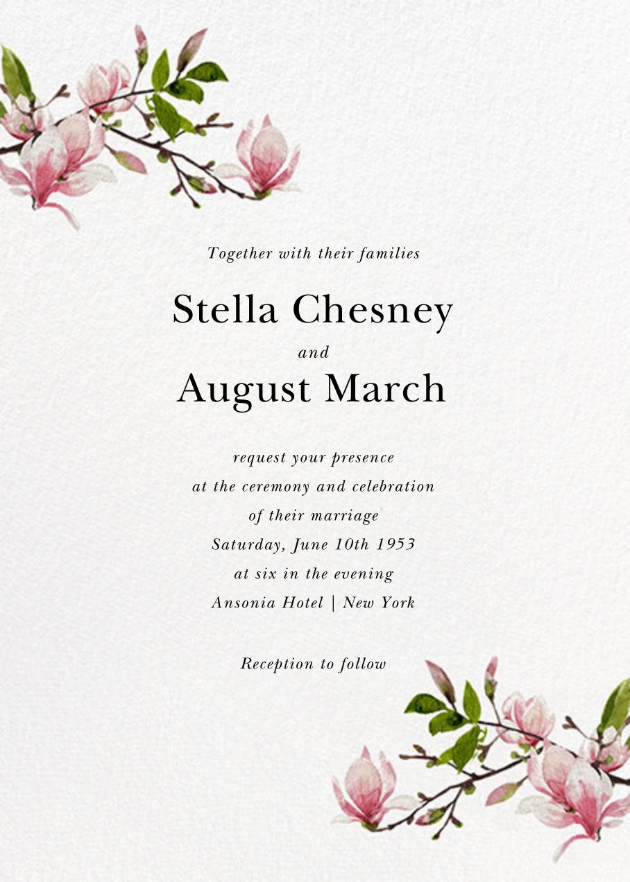 Magnolia Branches (Invitation) - Felix Doolittle - All