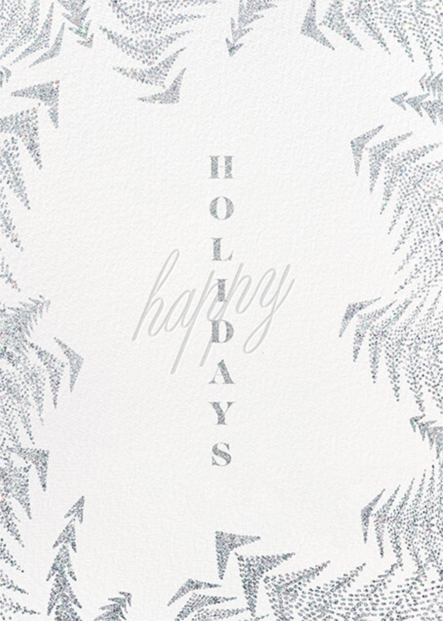 Crystal Pines Holiday (Greeting) - White - Paperless Post - Holiday cards