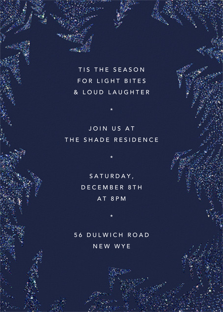 Crystal Pines (Invitation) - Dark Blue - Paperless Post - Holiday party