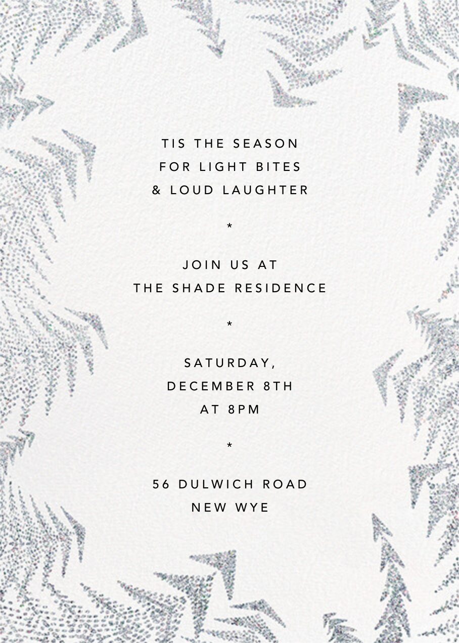 Crystal Pines (Invitation) - White - Paperless Post - Holiday party
