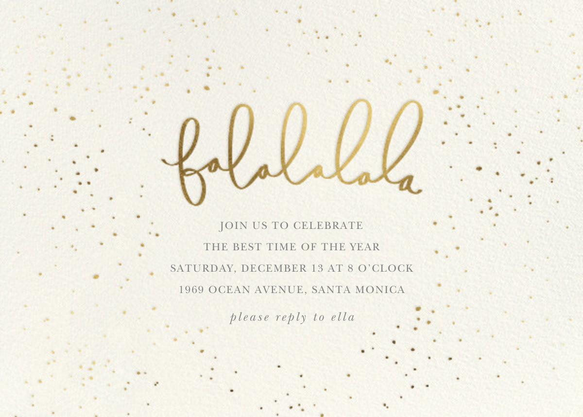 Falalalala - Sugar Paper - Christmas party