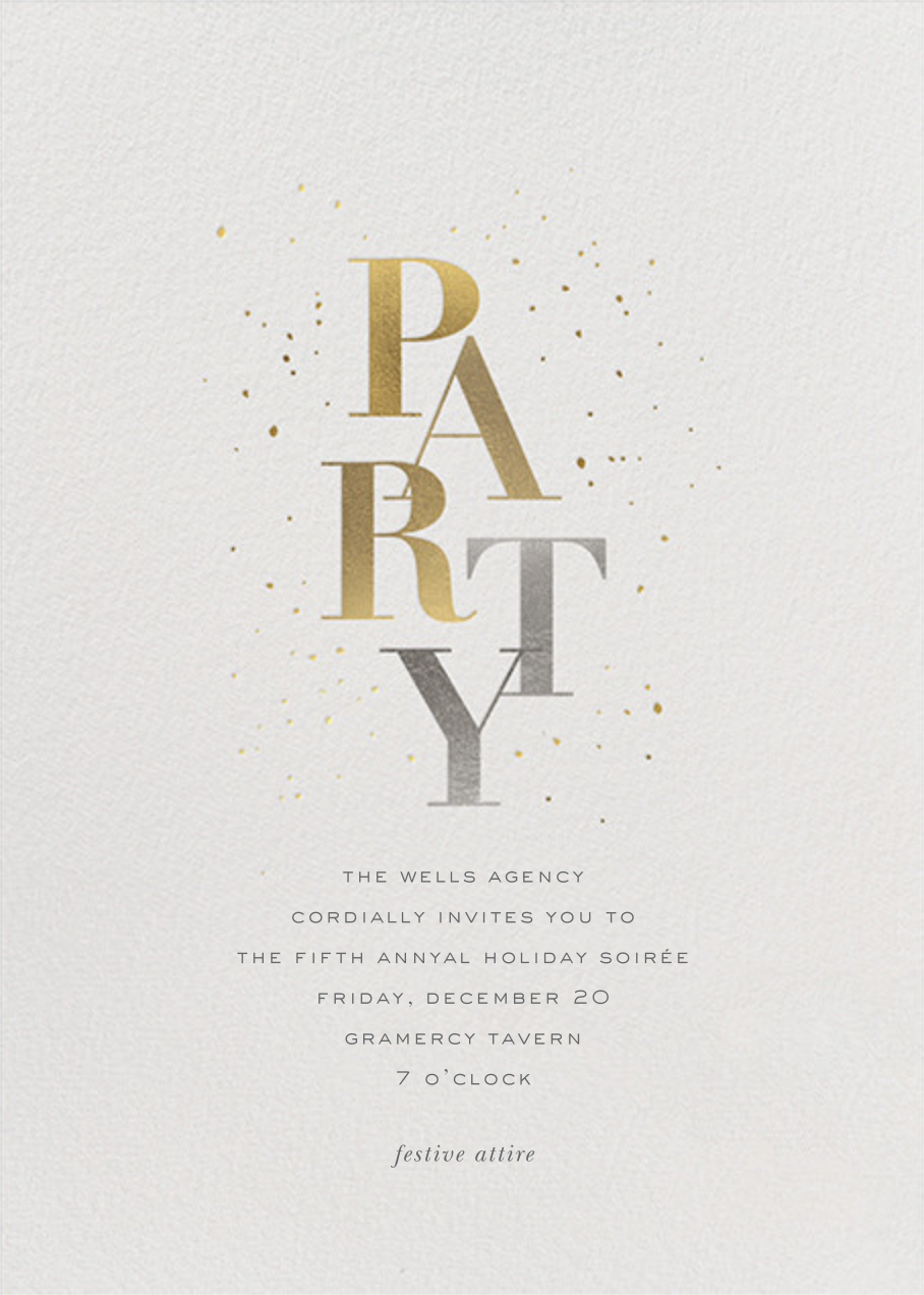 Party Sparkle - Sugar Paper - Holiday party
