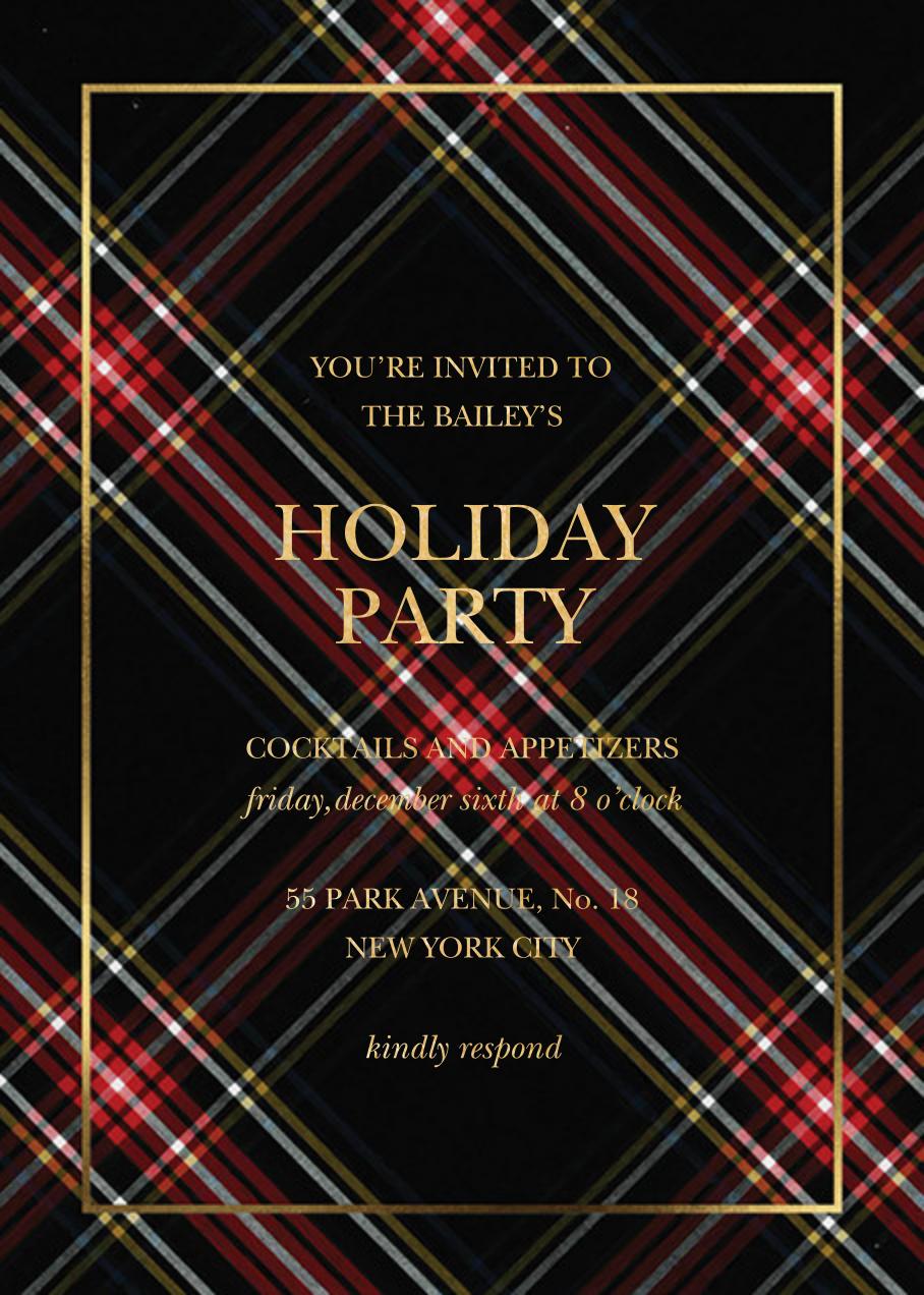 Tartan Wrap - Sugar Paper - Holiday party