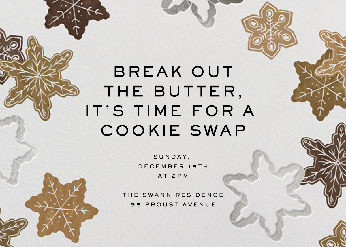 Cookie Cutters - Paperless Post - Christmas party