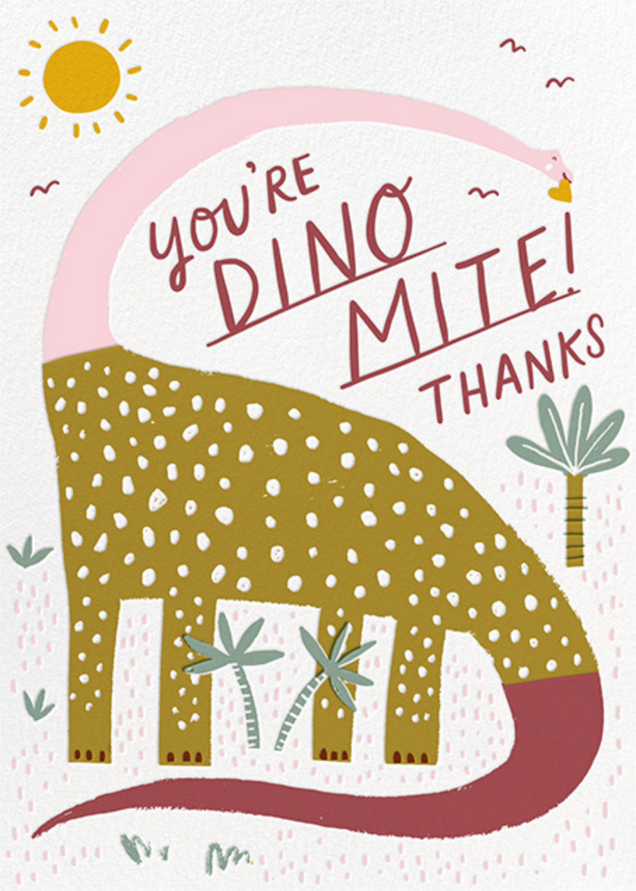 Dinos Might (Greeting) - Pink - Hello!Lucky - Thank you