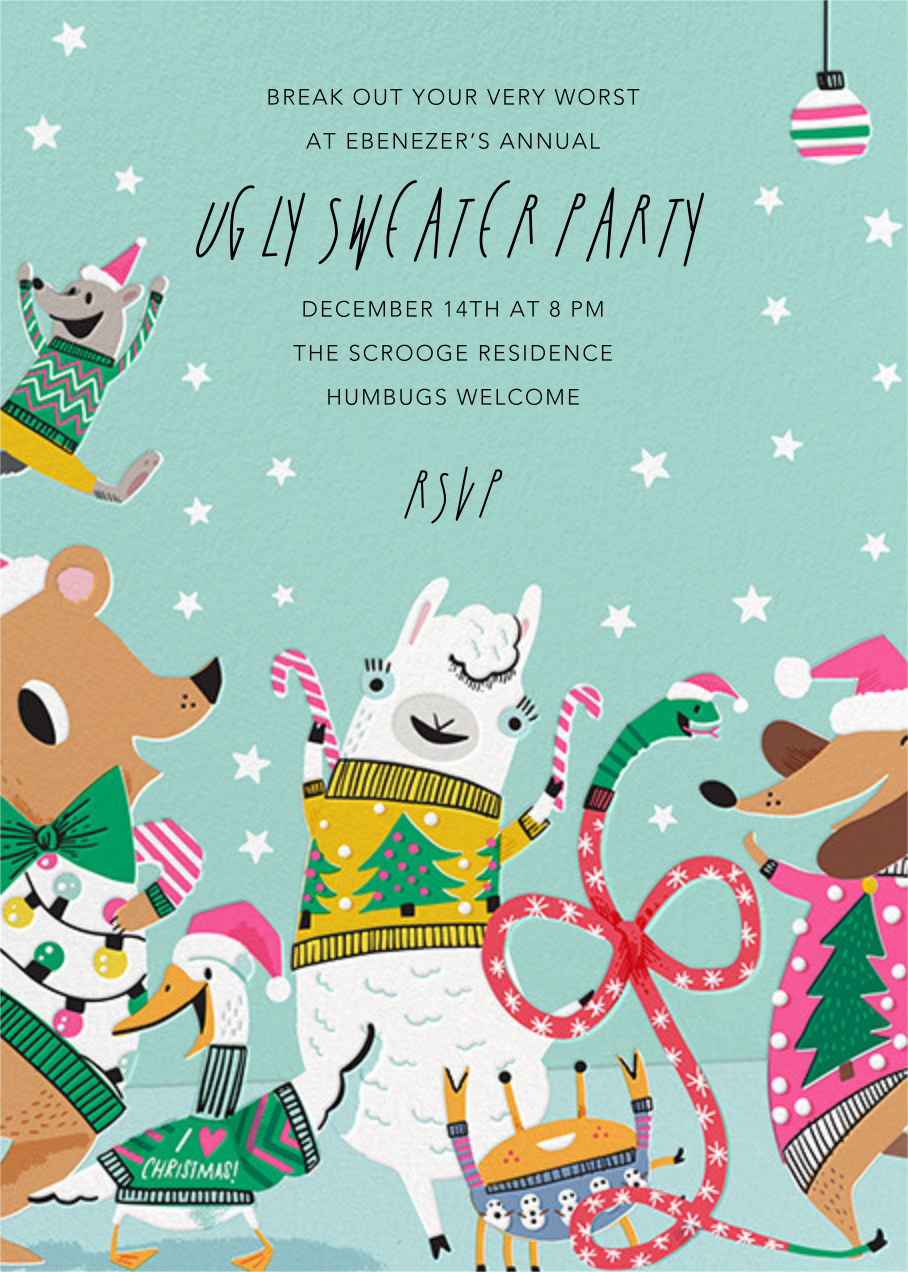 Sweater Party Animals - Hello!Lucky - Christmas party