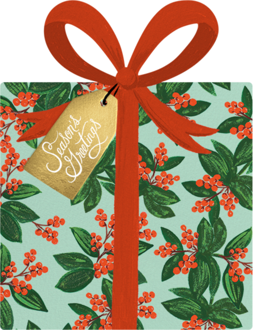 Winterberries Present - Rifle Paper Co. - Christmas