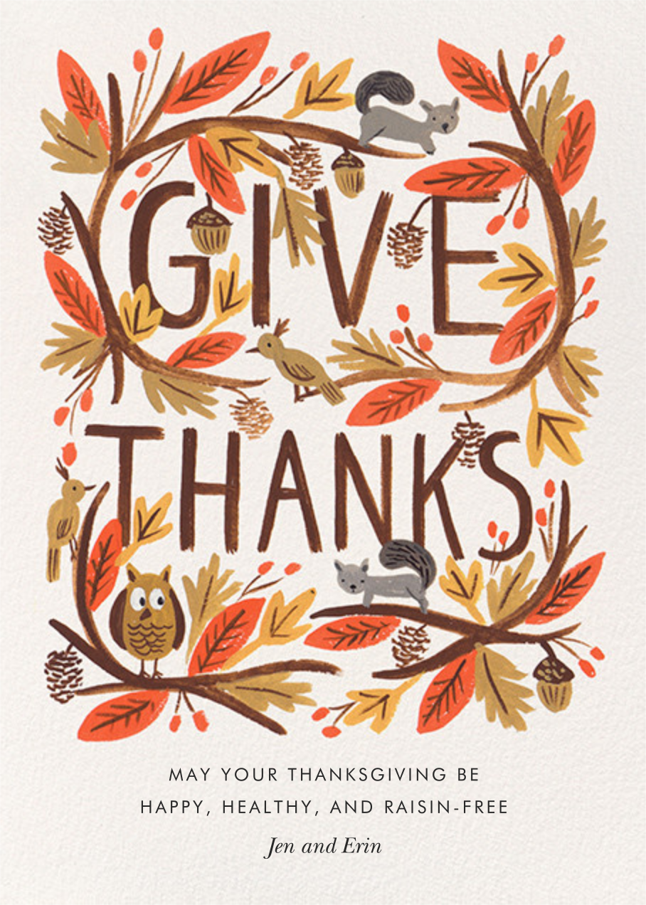 Give Thanks Foliage - Rifle Paper Co. - Thanksgiving