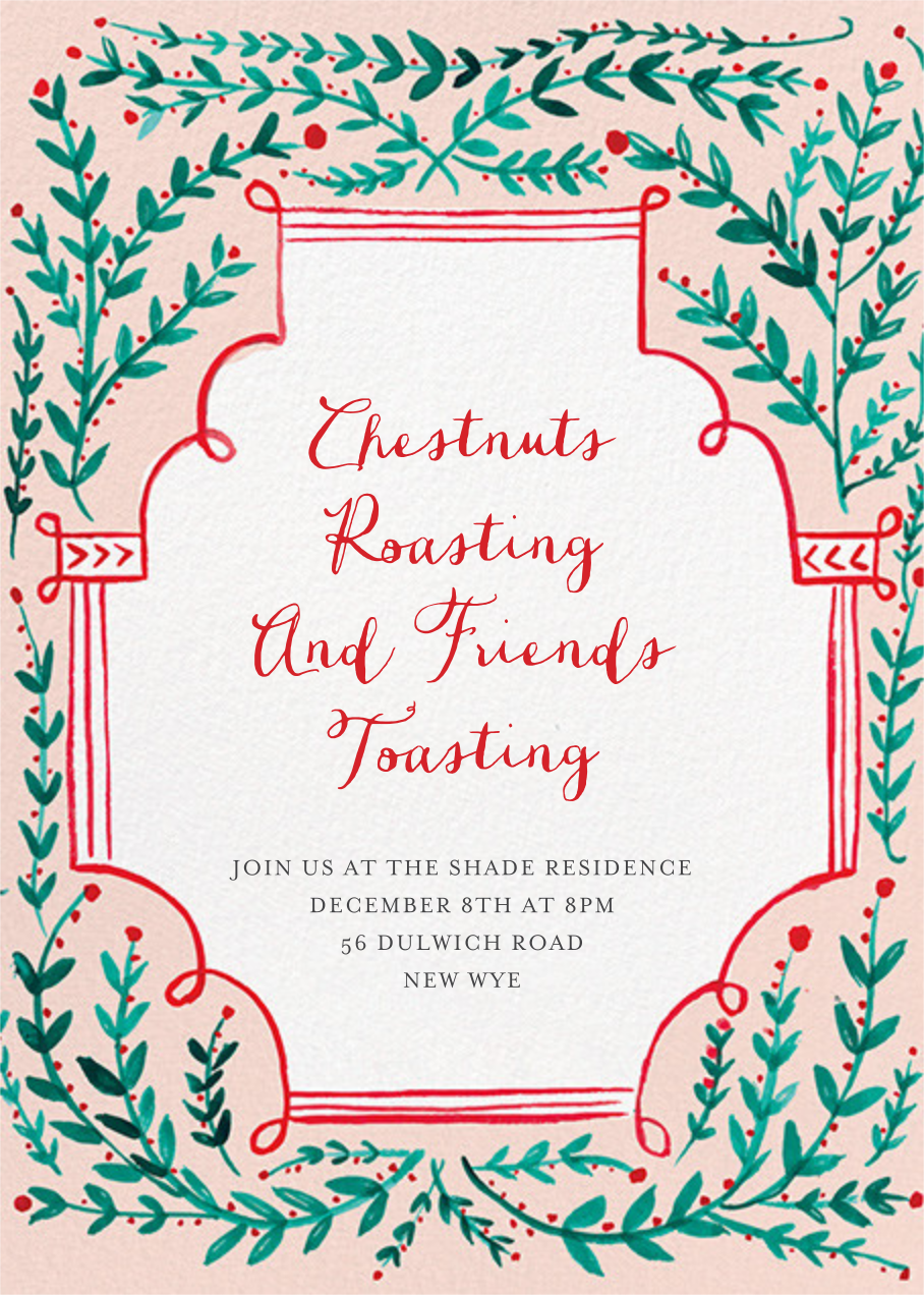Sprawling Vines - Mr. Boddington's Studio - Christmas party