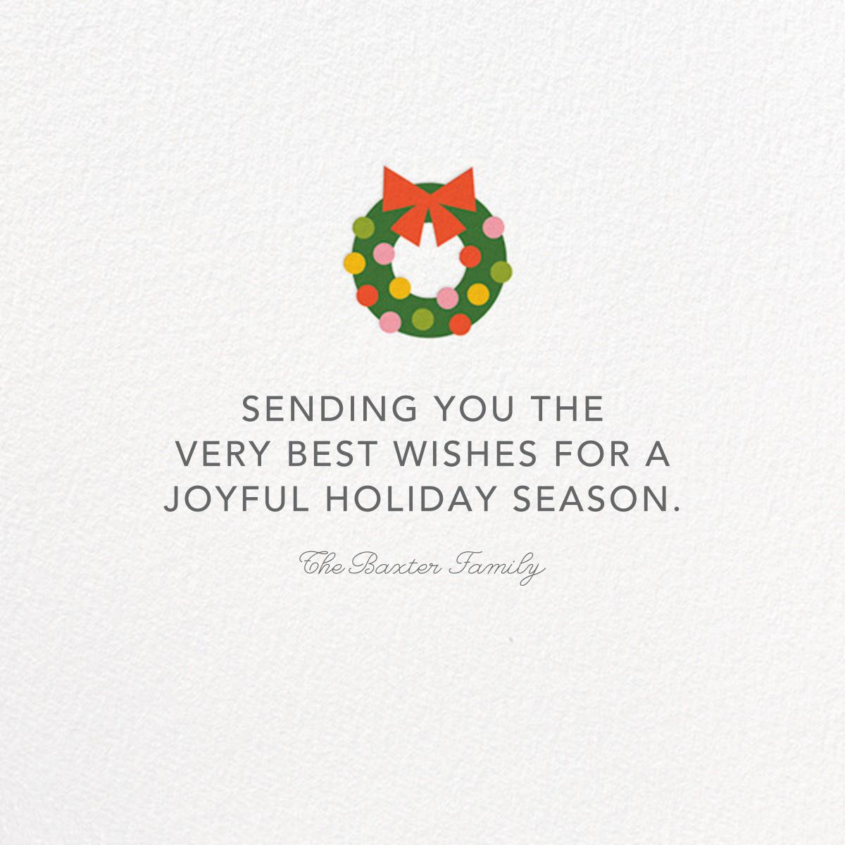 Winking Santa - Fair - Petit Collage - Holiday cards - card back