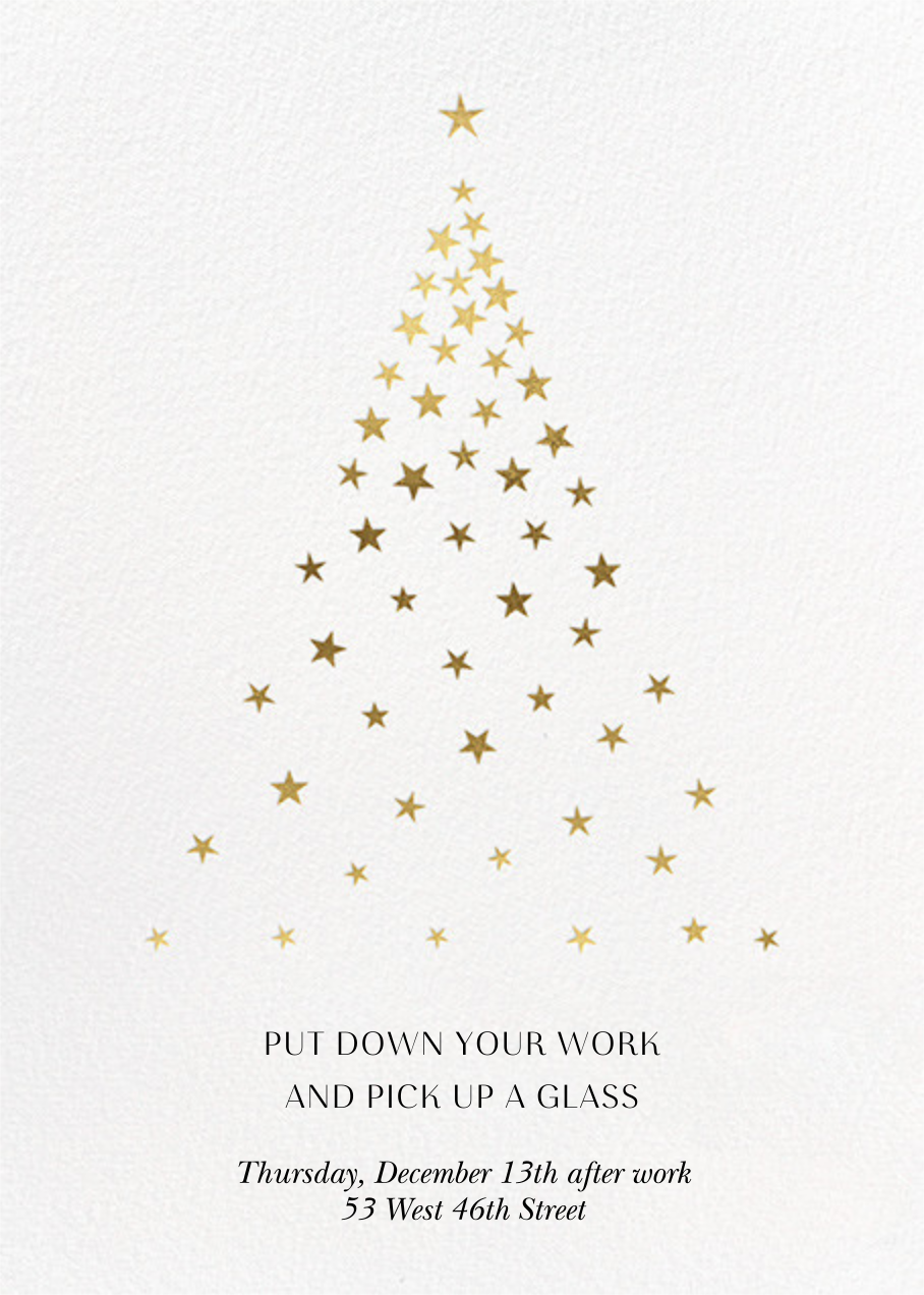 Starry Tree - White - Paperless Post - Corporate invitations