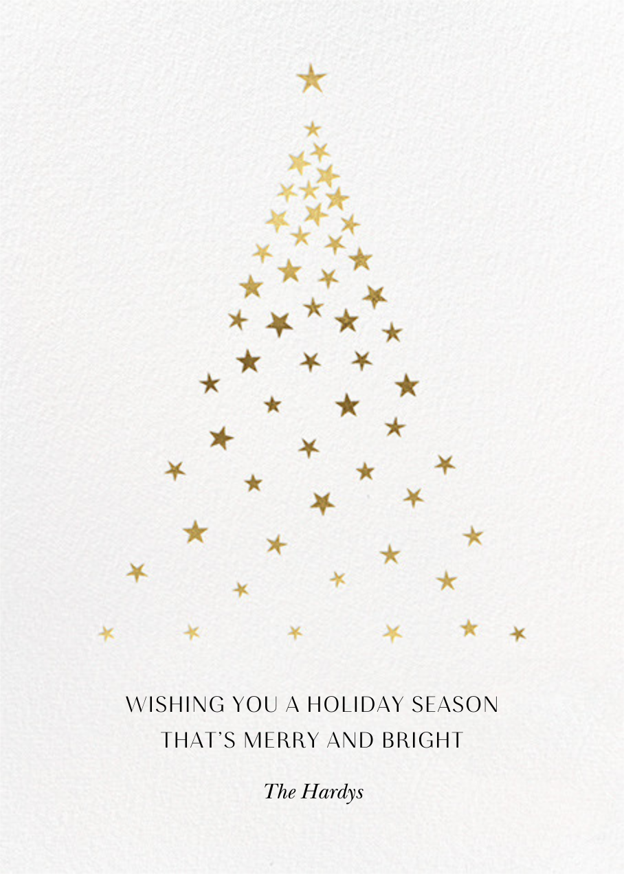 Starry Tree - White - Paperless Post - Holiday cards