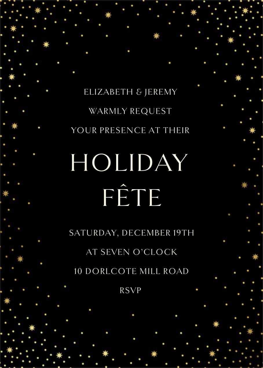 Modest Dazzle - Black - Paperless Post - Holiday party