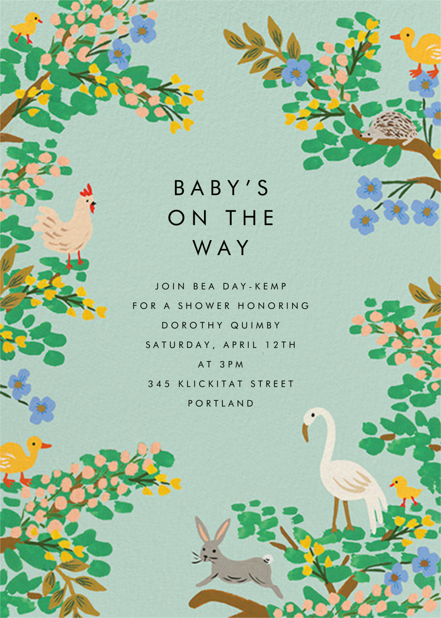 Forest Animals - Rifle Paper Co. - Woodland baby shower invitations