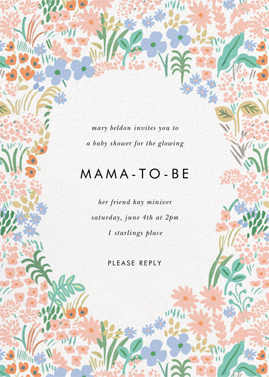 Pastel Meadow - Rifle Paper Co. - Baby shower