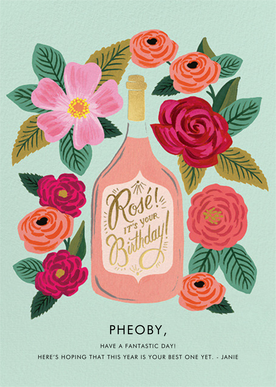 Rosé It's Your Birthday - Rifle Paper Co. - Birthday