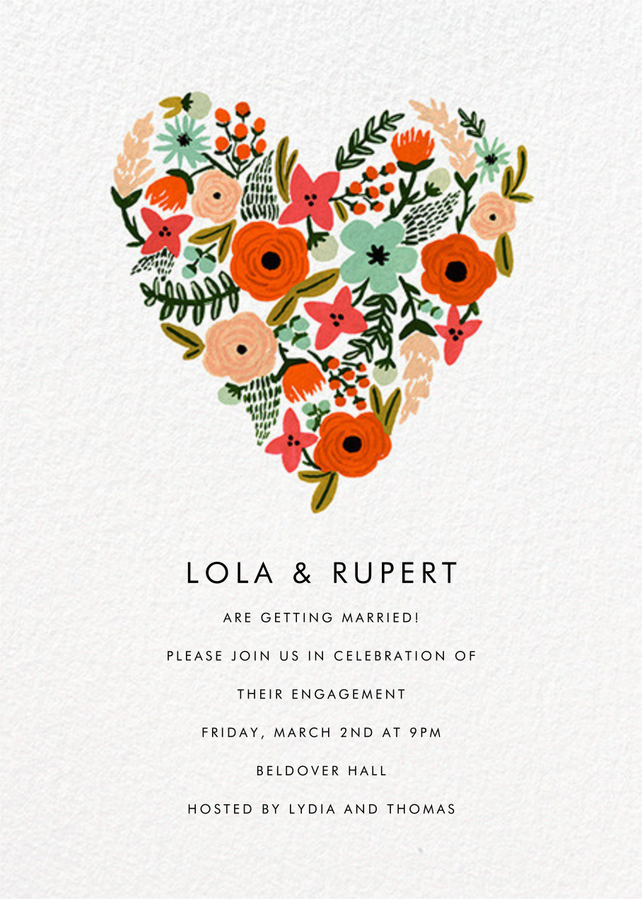 Floral Heart - Rifle Paper Co. - Engagement party