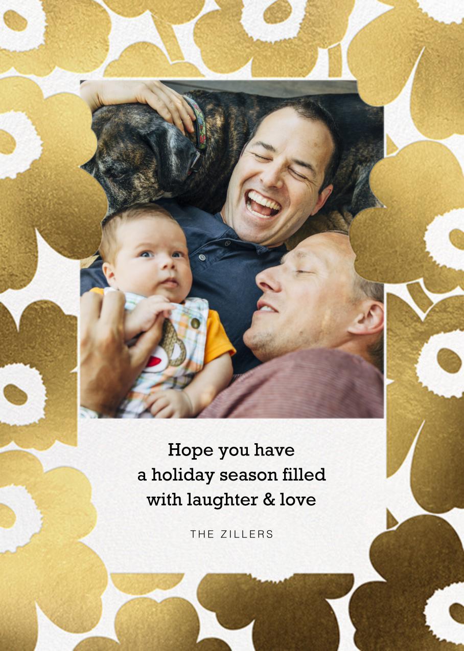 Gold Unikko Photo - Marimekko - Holiday cards