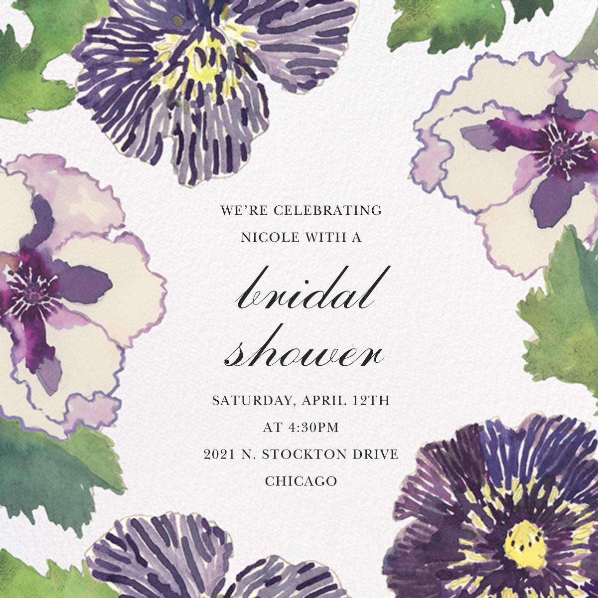 Fancy Pansies - Happy Menocal - Bridal shower
