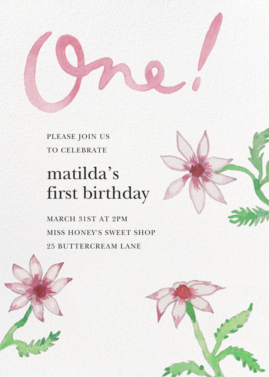 Birthday Daisies - Happy Menocal - First birthday