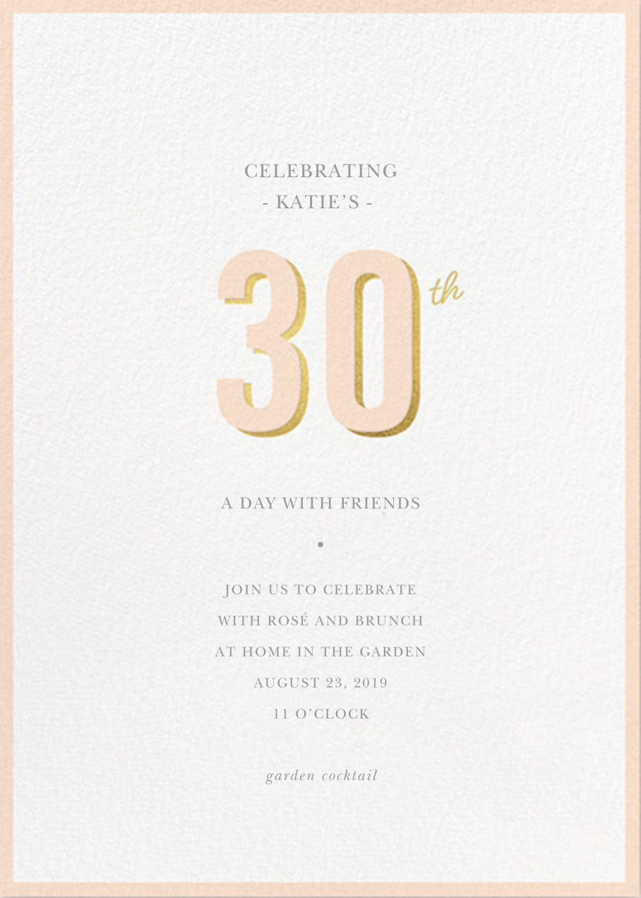 Pop of Gold - 30 - Sugar Paper - Adult birthday