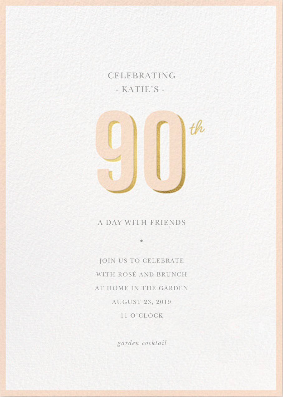 Pop of Gold - 90 - Sugar Paper - Adult birthday