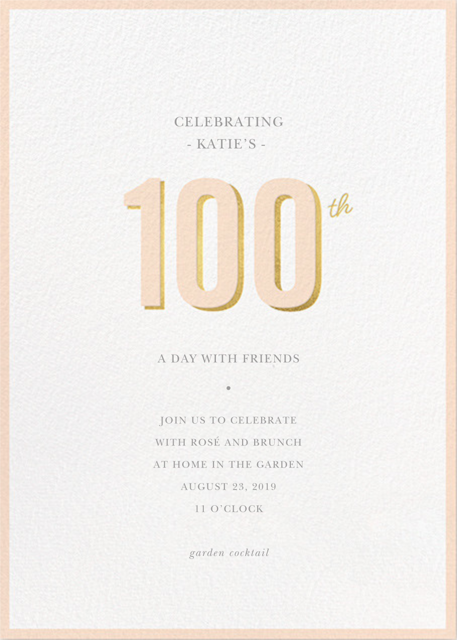 Pop of Gold - 100 - Sugar Paper - Adult birthday