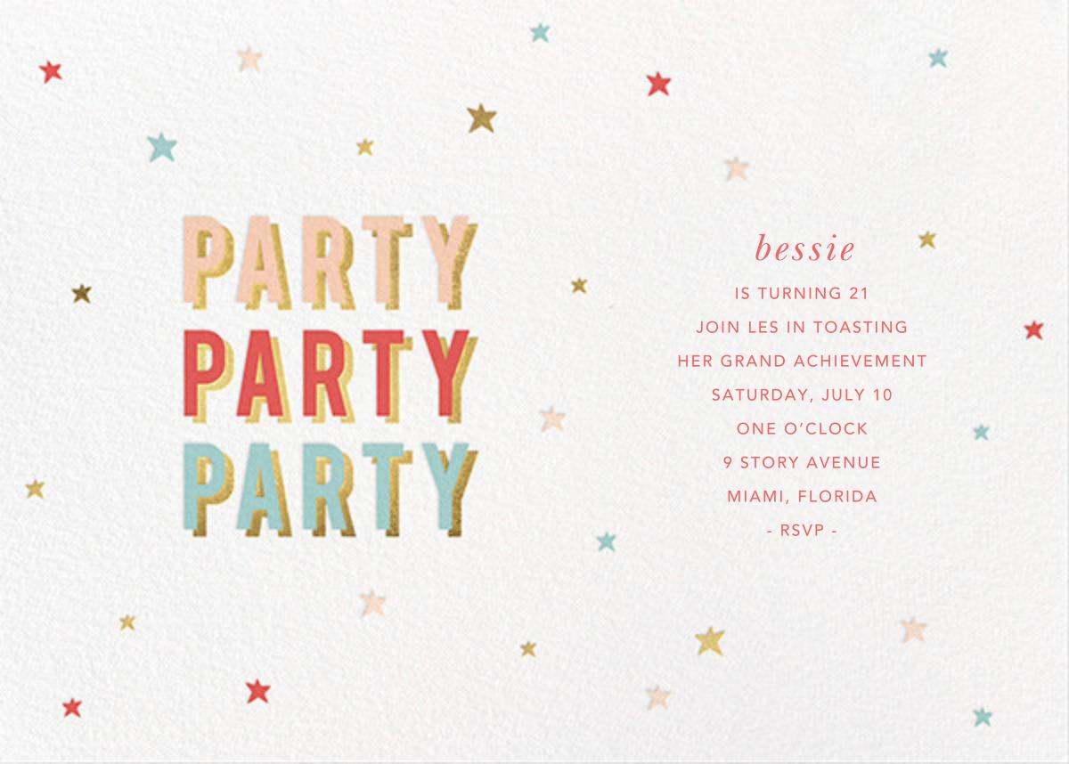 Third Party - Sugar Paper - Adult birthday