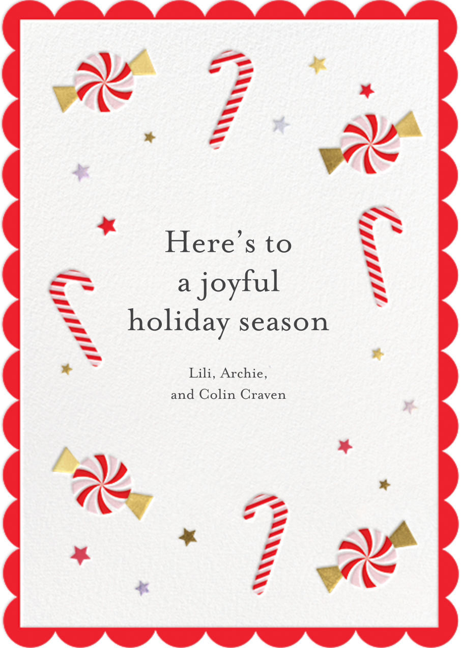 Candy Cane Delight - Meri Meri - Holiday cards