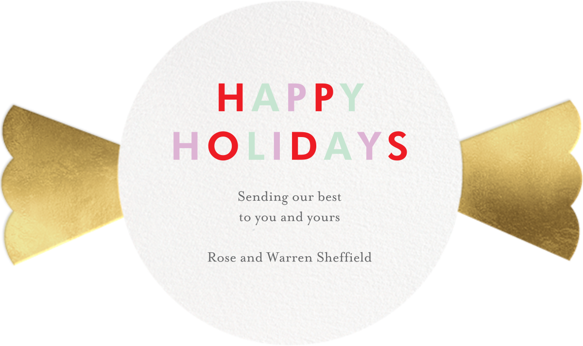 Sweet Holiday - Meri Meri - Holiday cards - card back