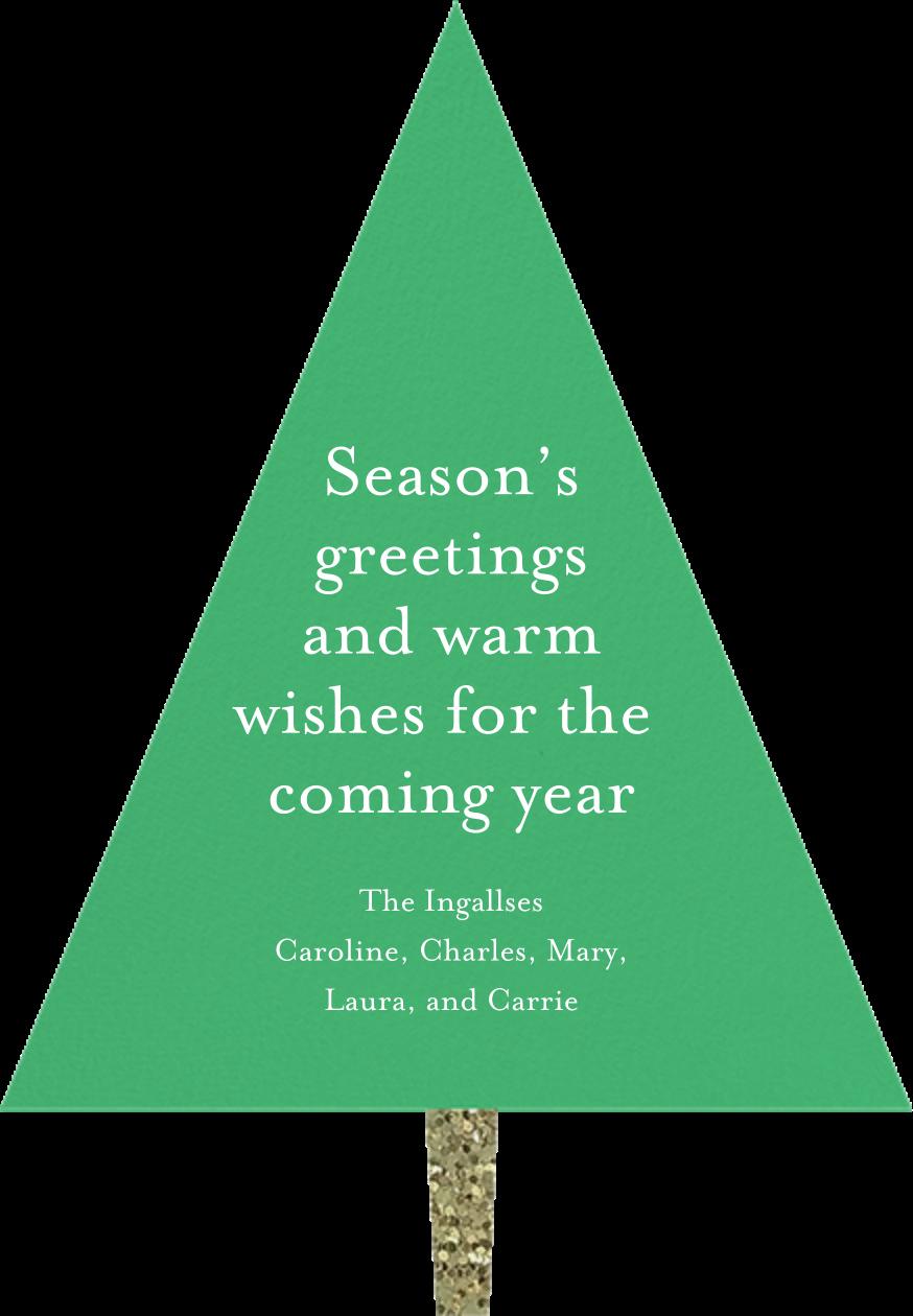 Confetti Tree - Meri Meri - Christmas - card back