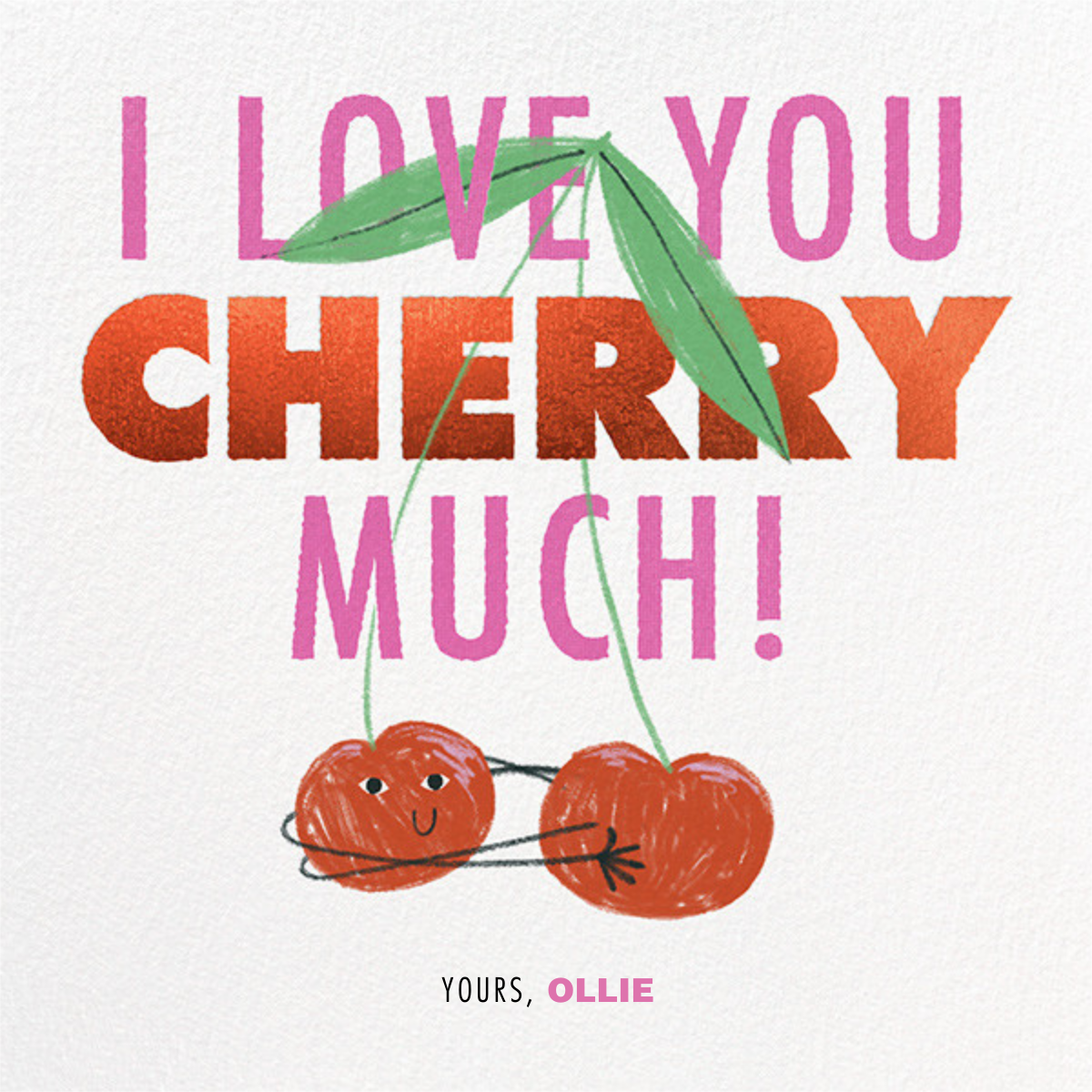 Cherry Hug - Paperless Post - Anniversary cards
