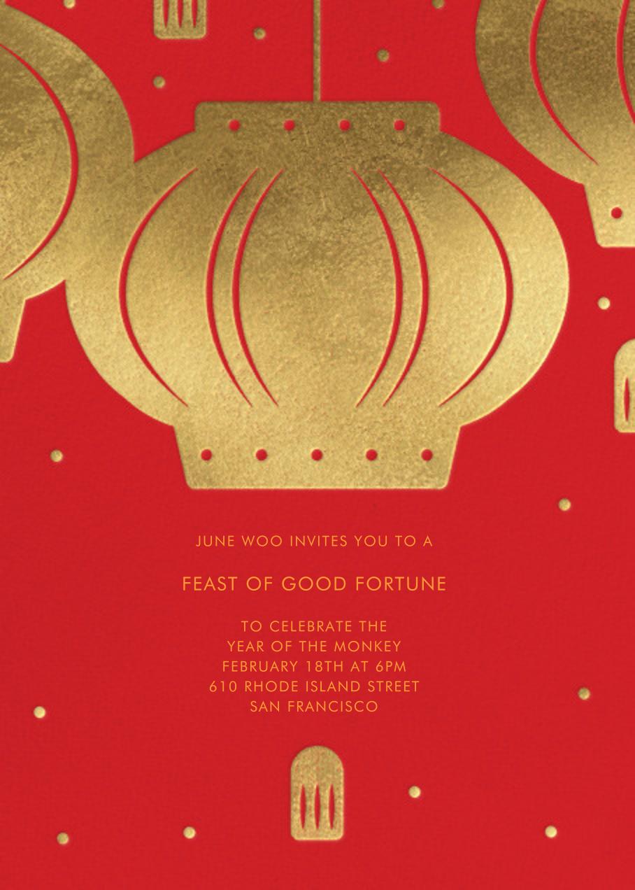 Paper Lantern (Invitation) - Paperless Post - Lunar New Year