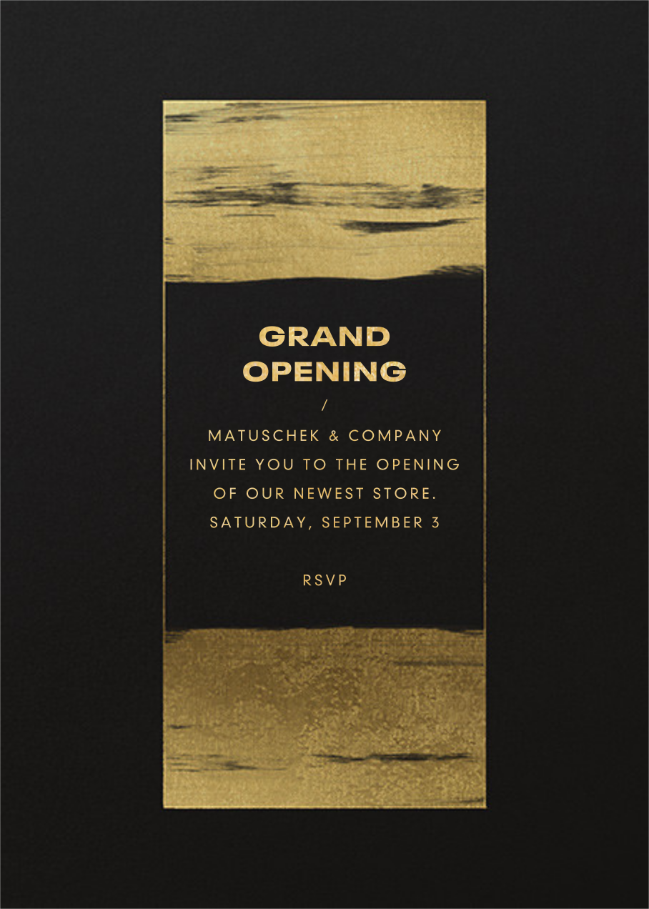 Gold Brushstroke - Paperless Post - Professional events