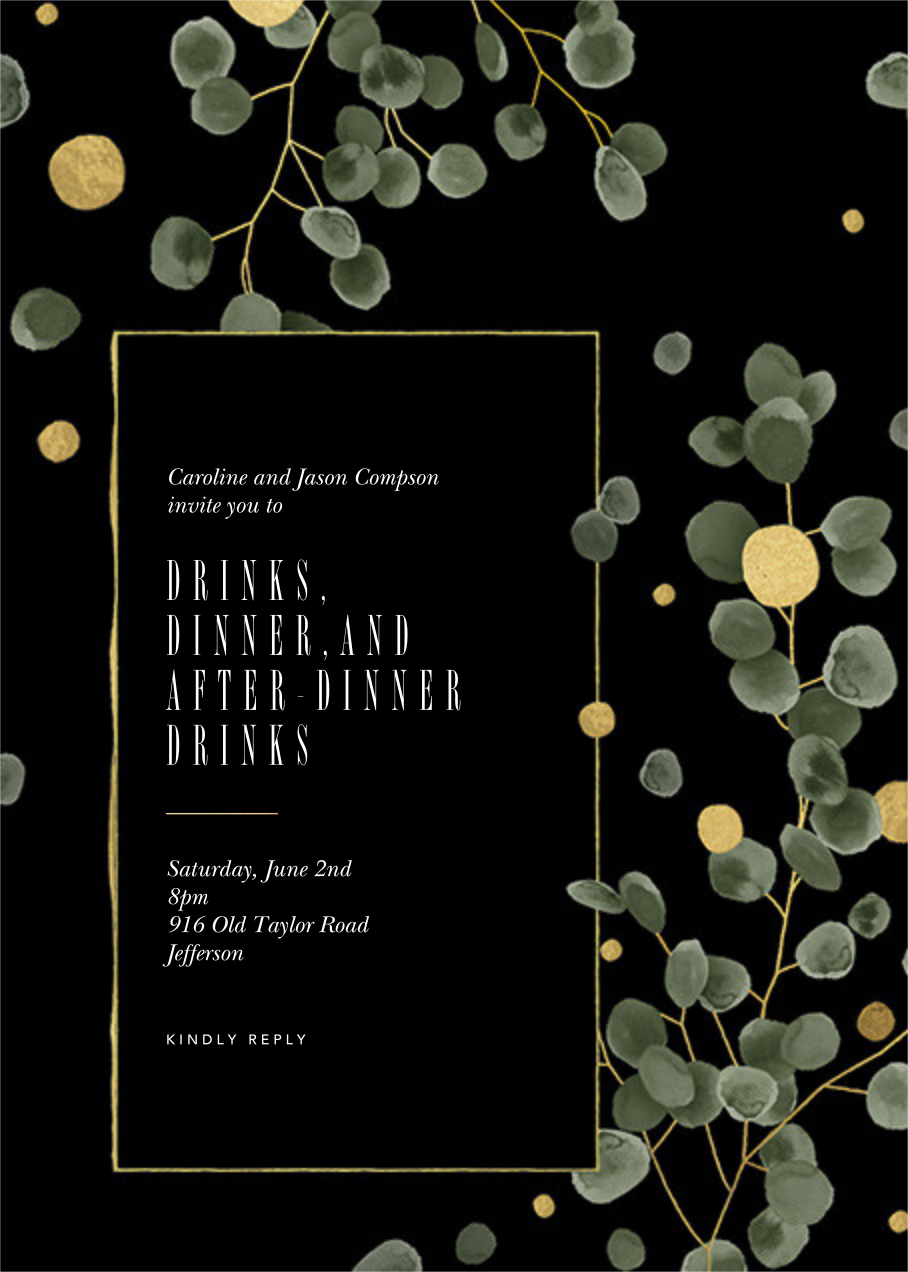 Golden Eucalyptus  - Paperless Post - General entertaining
