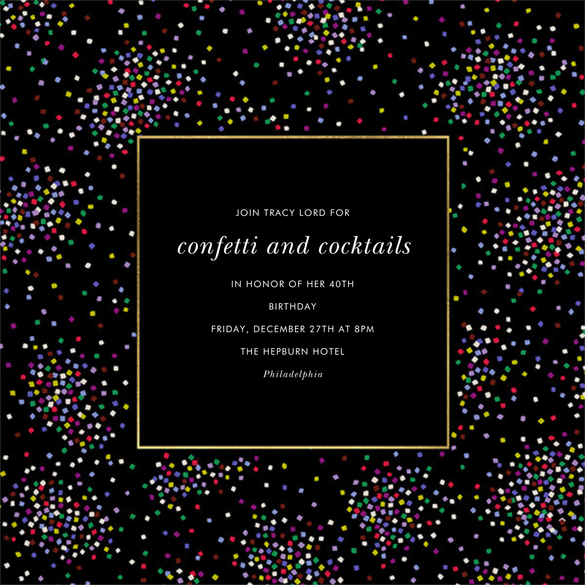 Confetti Clusters - kate spade new york - Adult birthday