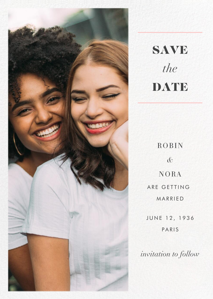Split Tall (Save the Date) - Paperless Post - Photo