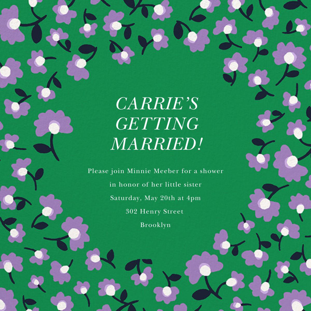 Mini Flowers - Emerald - kate spade new york - Bridal shower