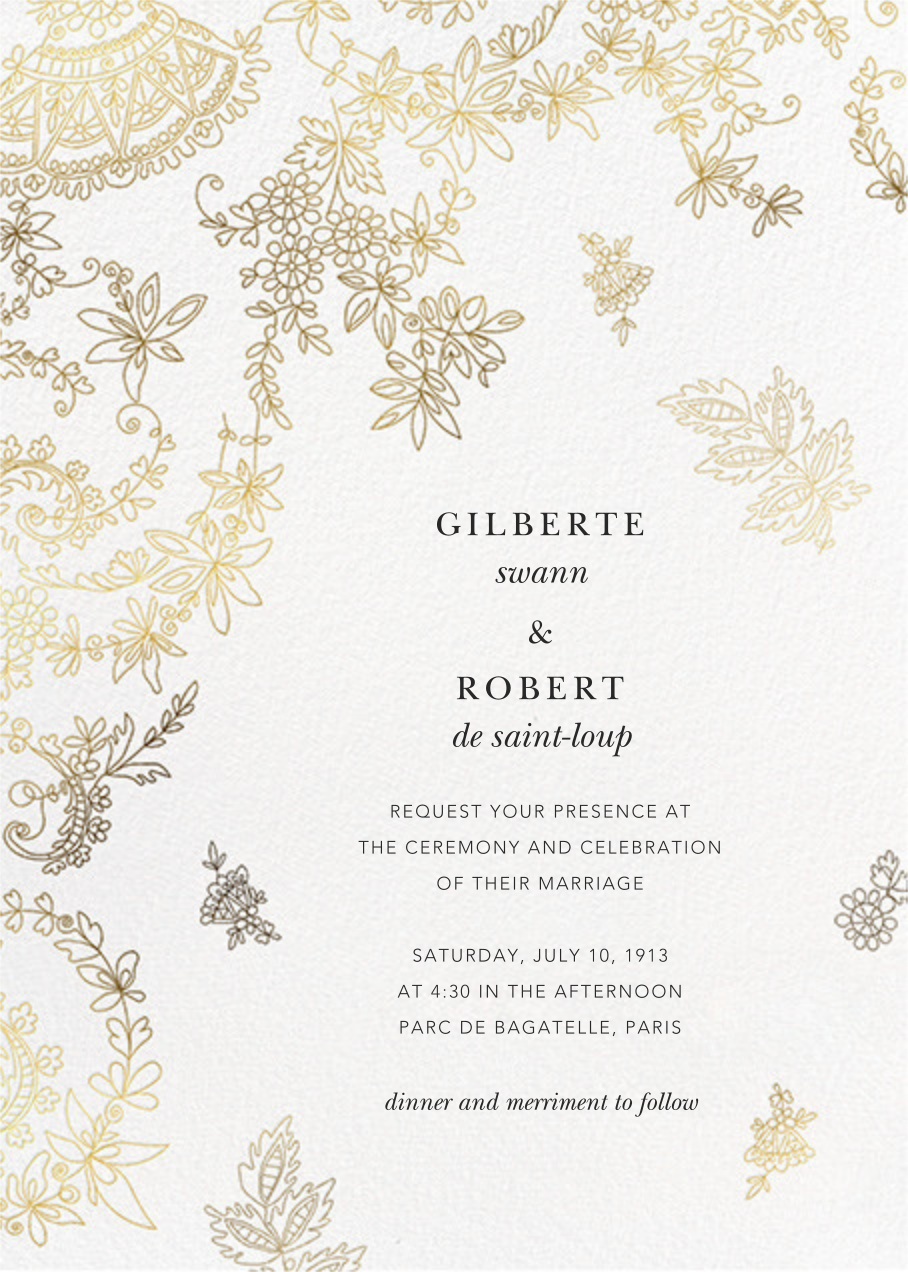 Floral Filigree (Invitation) - Oscar de la Renta - All